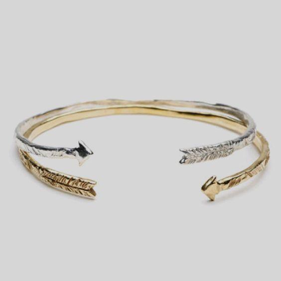Odette NY. Arrow Cuff Bracelet. Brass $98, Silver $172