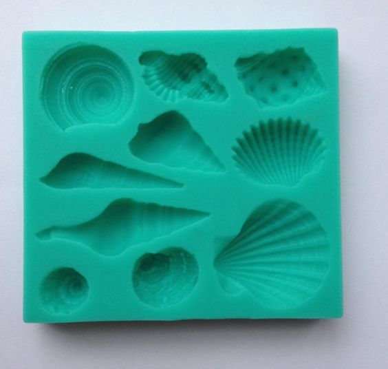 Shells Seashell Silicone mold Soft Silicone by SweetCraftyTools