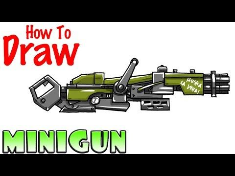 How To Draw The Minigun Fortnite Youtube Drawing For