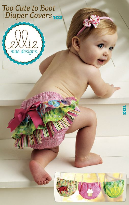 Too Cute To Boot Diaper Covers Pattern By Ellie Mae