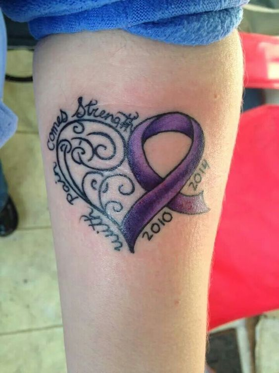 Heart and ribbons on pinterest for Heart ribbon tattoo