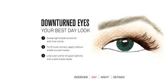 Day look for down turned eyes