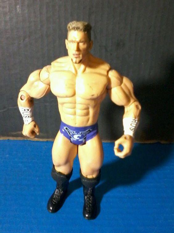 "WWE ACTION FIGURE : 7"" Russ Charlie Haas Rare 2003 JAKKS Wrestling purple…"