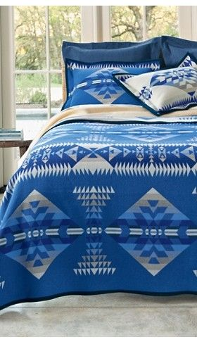 I have this Pendleton on my king size log bed.....I have a twin size on the chair by the bed.  Heaven!