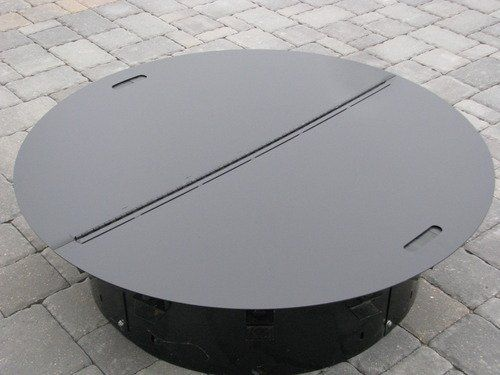 Round Steel Fire Pit Cover / Snuffer by www.firebuggz.com, http://www.amazon.com/dp/B0058HMA7G/ref=cm_sw_r_pi_dp_wUkyrb1QC8AM2