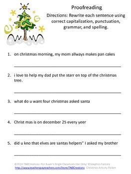 Christmas Unscramble Worksheets - Synhoff
