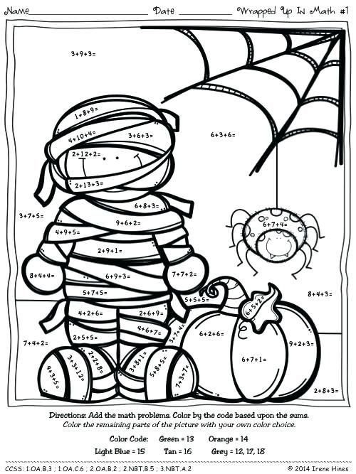 Halloween Sheets 2 S Halloween Math Activities 2nd Grades