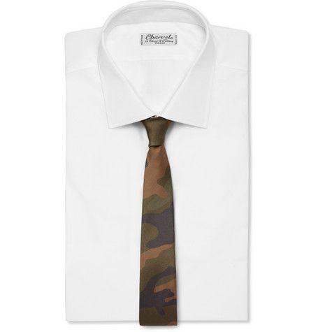 ValentinoCamouflage-Print Silk Tie