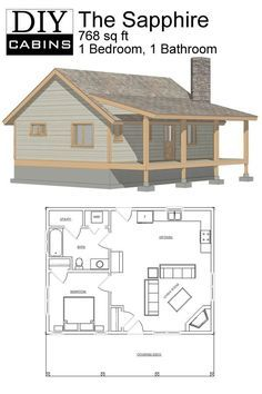 Diy Cabins The Sapphire Cabin Small Cabin Plans Small House Plans Cabin Plans