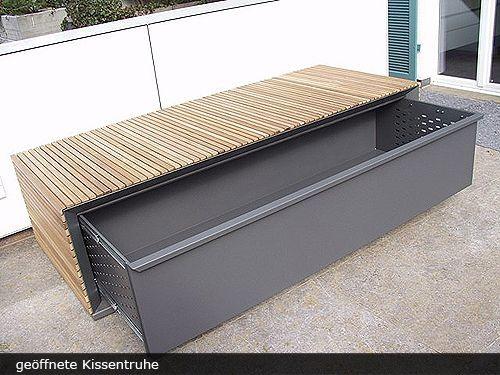 Fmh Designobjekte Fmh Holzbau Metallbau Stuttgart Fellbach Kissentruhe Metallbau Gartensitzplatz