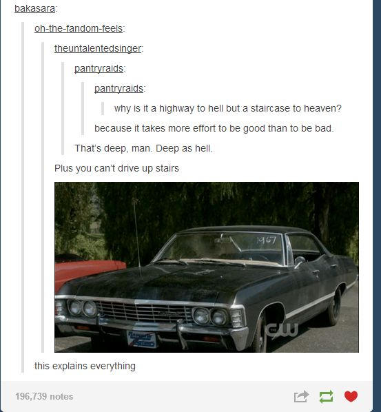 """You can't drive up stairs."" 