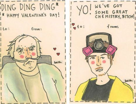 Breaking Bad Valentines Day cards bitch – Bad Valentines Day Card