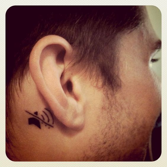 "In a tattoo forum discussion, this from Brando: ""Got my first tattoo Friday for my birthday. I'm deaf in my right ear and everyone always forgets which ear..."" -- SH: This would be a useful tattoo for my left ear!"