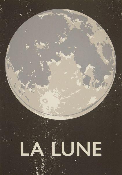 La Lune Screenprint