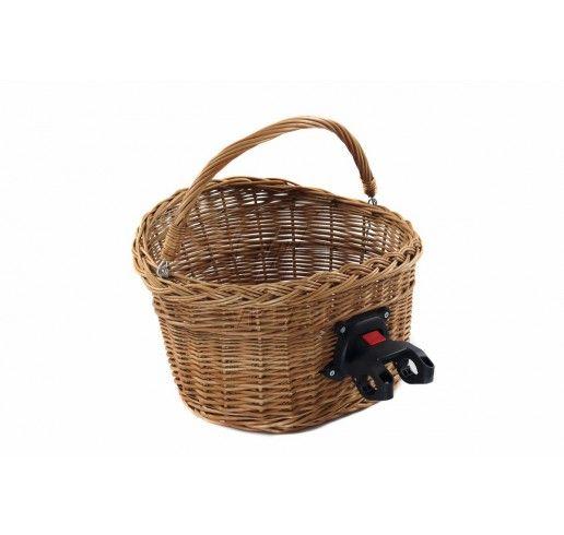 Wiklinowy Koszyk Na Rower Z Klikiem Wicker Wicker Baskets Decorative Wicker Basket