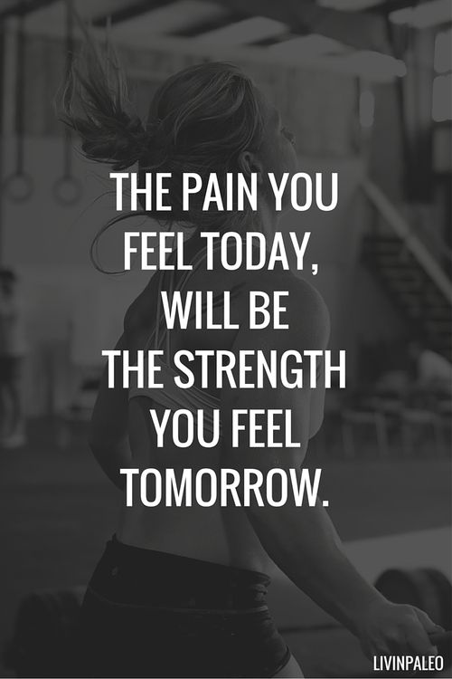 The pain you feel today, will be the strength you feel tomorrow. http://stores.ebay.com/nutritionalwellnessstore: