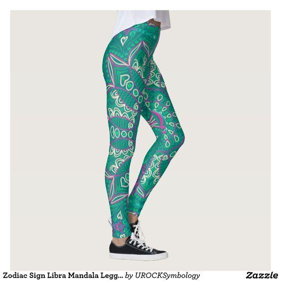 #Zodiac Sign #Libra #Mandala #Leggings   #zazzle
