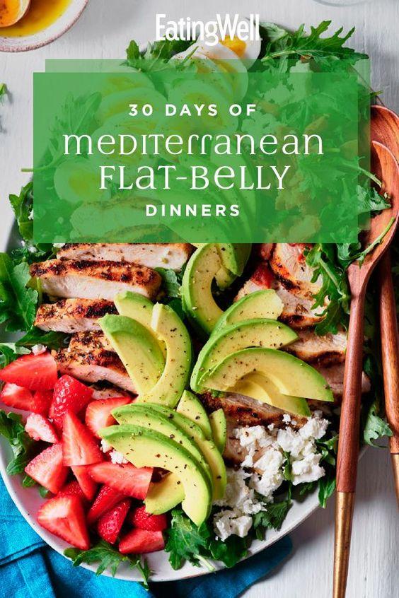 30 Days of Mediterranean Flat-Belly Dinners