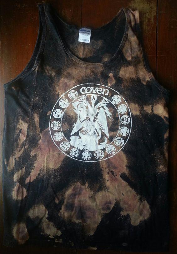 Coven Band Tank Top Shirt Bleached Jinx by WayfairingStranger, $20.00