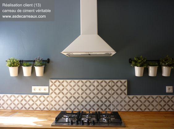 Carreaux de ciment forme géométrique grise 20x20 cm gris