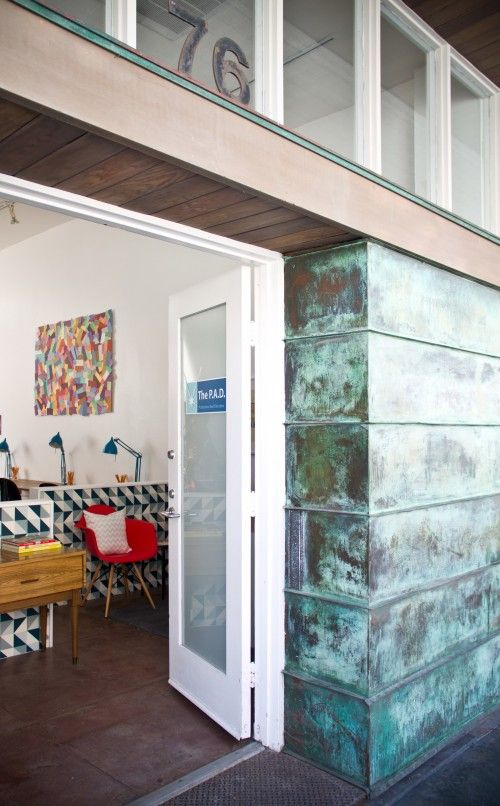 Love the patina of that wall