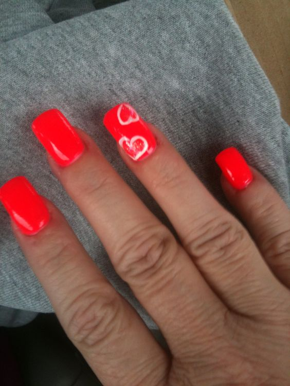 My Valentine nails from Angels Nail & Spa Searcy Ar.