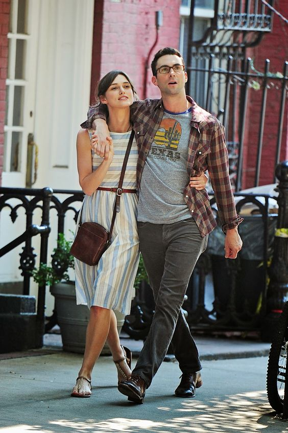 Begin Again (movie). I like her style...I also really like his face. <----what she said ;-) Also love the songs!: