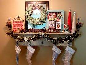 Faux mantle idea for the holidays.