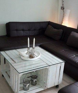 vier obstkisten machen einen tollen tisch tolle ideen f r unsere kisten pinterest. Black Bedroom Furniture Sets. Home Design Ideas