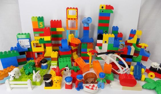 Lego Duplo Building Blocks Lot Mixed Parts Figures Building Plates 320+ Pieces  #LEGO