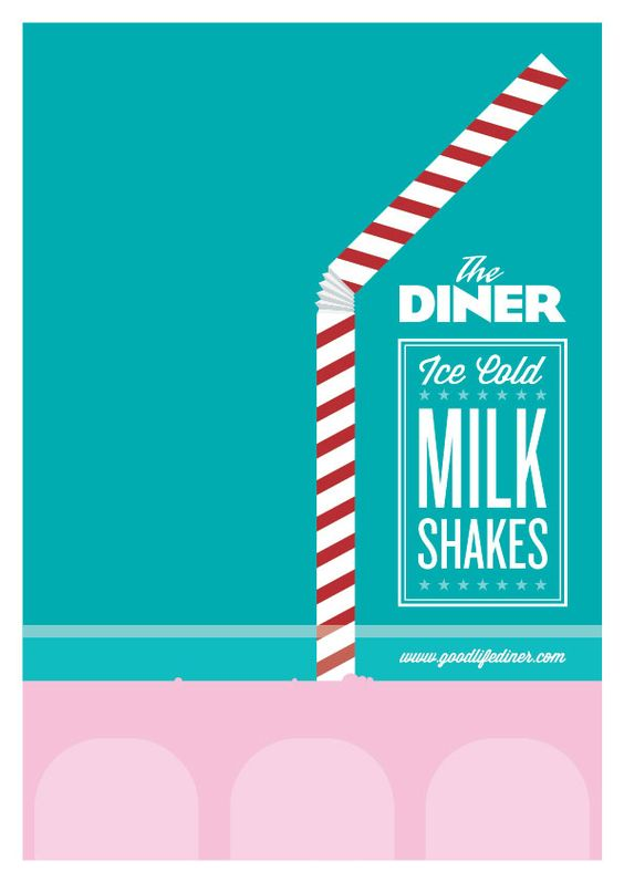 DINER Milkshake Poster by www.LimitedEditionDesign.co.uk