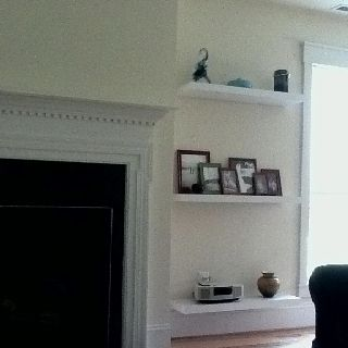 floating shelves around fireplace for our home pinterest shelves floating shelves and. Black Bedroom Furniture Sets. Home Design Ideas