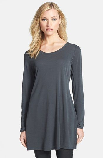Eileen Fisher Silk Scoop Neck Tunic available at #Nordstrom