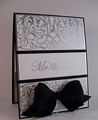 Beautiful Wedding card designed by Sharon Johnson