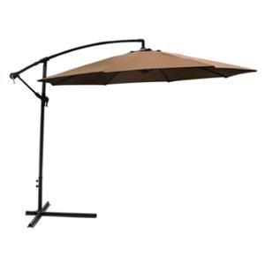 Patio Umbrella Offset 10' Hanging Umbrella Outdoor Market Umbrella Tan New