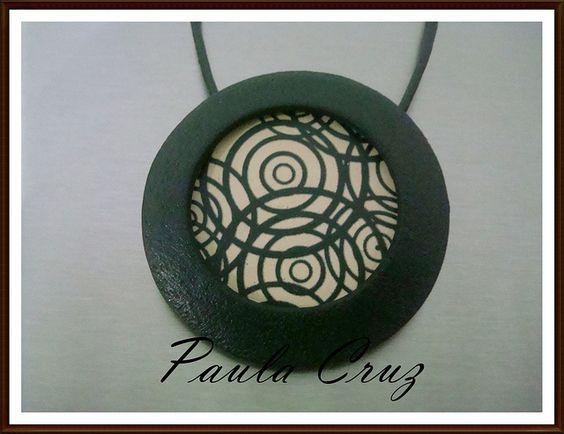 Pendente em Polymer Clay - Laser Transfer by Paula_Cruz, via Flickr