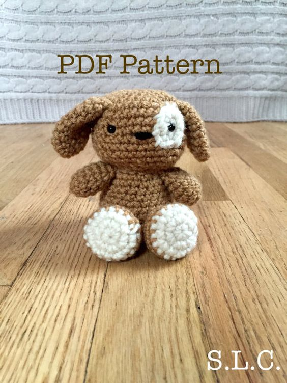 Amigurumi Animals For Beginners : Patch The Dog Easy Amigurumi PDF Crochet by ...