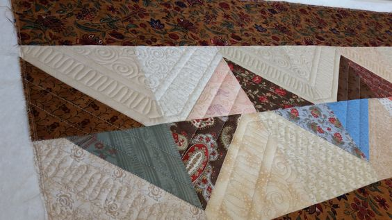 Wanda B's Chevron quilt.  Longarmed by Le Ann Weaver of Persimmon quilts.