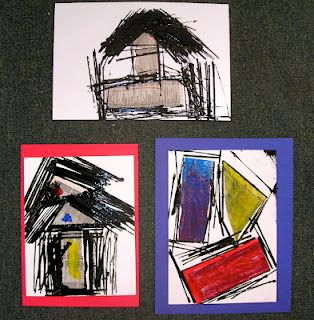 straight line printing with kindergarten - AWESOME lesson! | Art ...