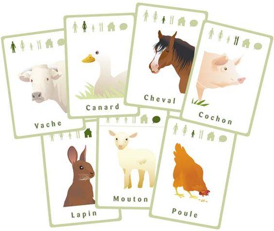 jeu des 7 familles des animaux de la ferme ferme pinterest google animaux et art. Black Bedroom Furniture Sets. Home Design Ideas