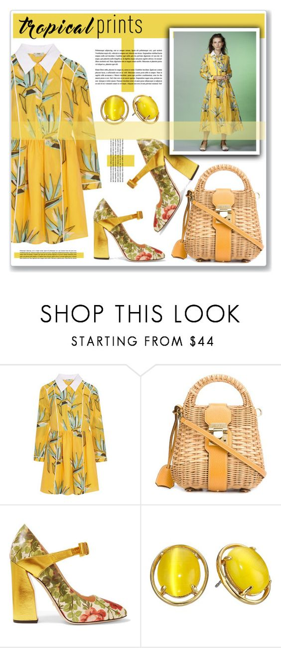 """""""tropical prints"""" by nanawidia ❤ liked on Polyvore featuring Fendi, Mark Cross, Gucci and Kate Spade"""