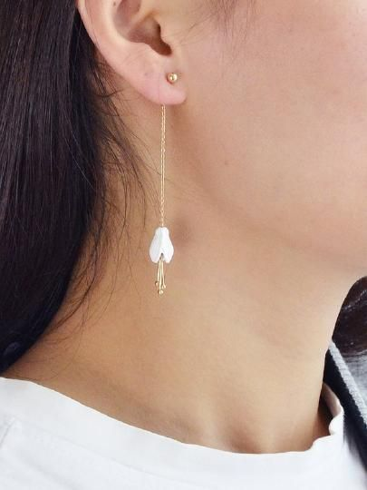 Jewelry Under 10 Dollars : jewelry, under, dollars, White, Orchid, Earrings, Under, Dollars, SHEIN, Check, Earrings,, Lilies