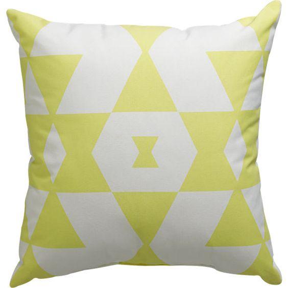 """$12.99  hello yellow 18"""" outdoor pillow"""