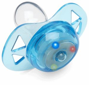 LED Pacifier   $2.99  Like having a rave in your crib  Do the kids even have raves anymore? We imagine that a baby rave would involve lots of e (for Enfamil), easily accessible ladies (aka mom), repetitive music (those lullabies are trippy, man) and of course, shiny LED lights in many colors. Rejoice, geek babies! The party has arrived. Suck away on your super cool LED Pacifier, kick your feet and wave your hands, and be careful not to poop your pants in front of the ladies.   The LED…