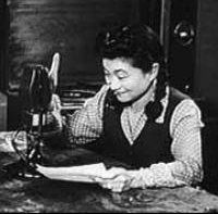"""Iva Ikoku Toguri, a.k.a. Orphan Ann & Tokyo Rose Broadcasting, WW II.   A Japanese American girl whose parents were interred in American camps. Travelling to Tokyo, the Japanese govt. tried to force her to change citizenship: she replied """"a tiger does not change it's stripes""""  Iva agreed to do radio propaganda on the condition she not slander the US. She used her monies earned to smuggle food to US and Australian POW troops. Nevertheless, when she returned to the US, she was arrested on…"""