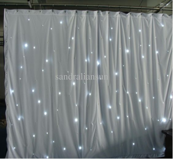 Top Quality 8x3m Smd5050 White Led Curtain Lights Backdrop For Weddings Star Cloth Curtain Light