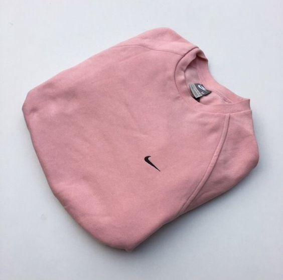 Sweater: pink nike vintage crewneck jumper pink dusty pink