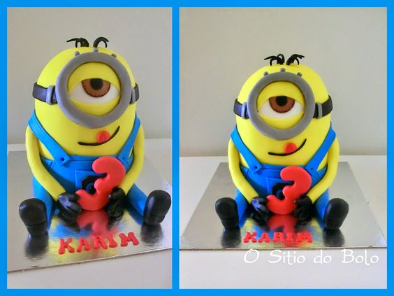 O sitio do bolo: Minion cake/ O bolo do Karim, em forma de Minion