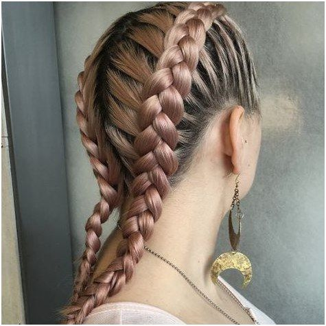Hairstyle Braid Rose Gold Cornrows By Erin Click For More Cool Braid Hairstyles Braided Hairstyles Boxer Braids Hairstyles
