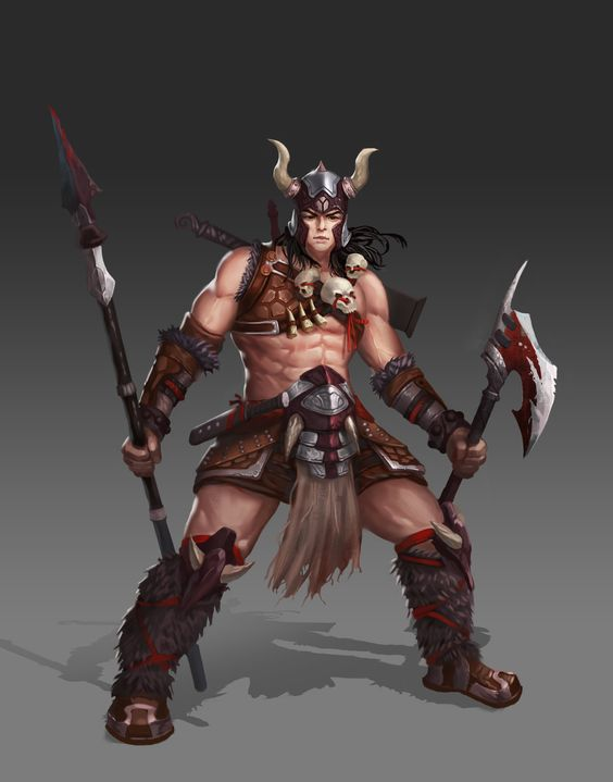 ArtStation - Barbarian King, tao yi